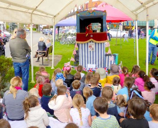 Image: Punch and Judy show at a previous May Day celebration Image courtesy of Brookmans Park Rotary Club