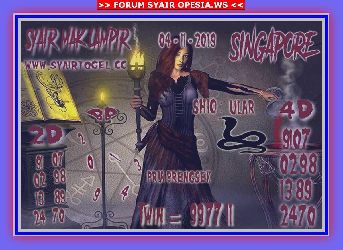Kode syair Singapore Senin 4 November 2019 128