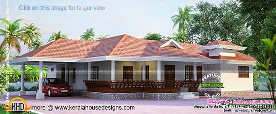 Kerala model house exterior