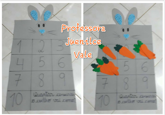 """Jogo Pedagógico """"Quantas cenouras o coelho vai comer?"""""""