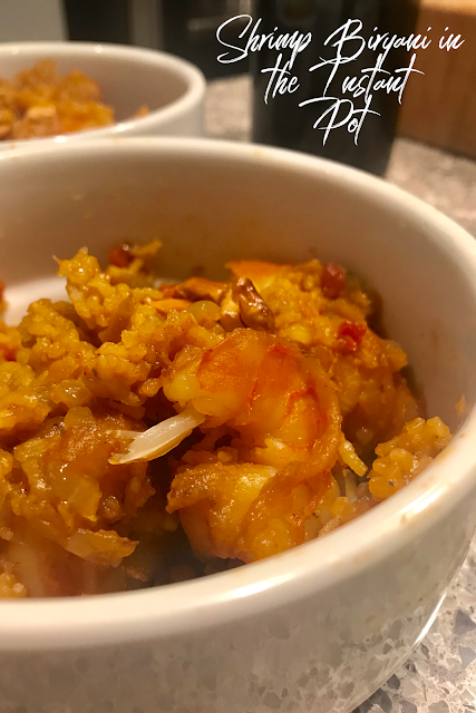 Instant Pot Shrimp Biryani