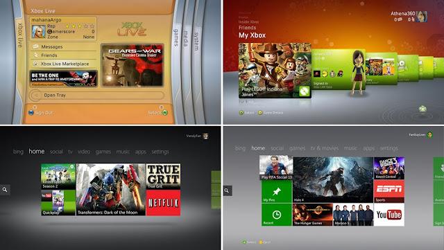 Как менялся дизайн интерфейса Xbox. Визуальная история