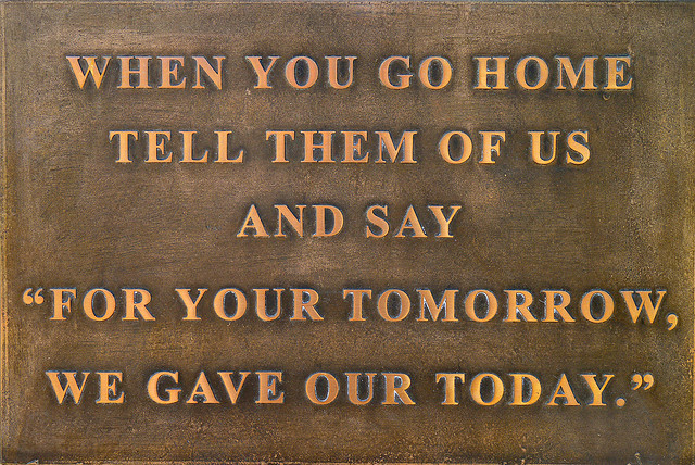 """Sean Linnane: """"FOR YOUR TOMORROW, WE GAVE OUR TODAY"""""""