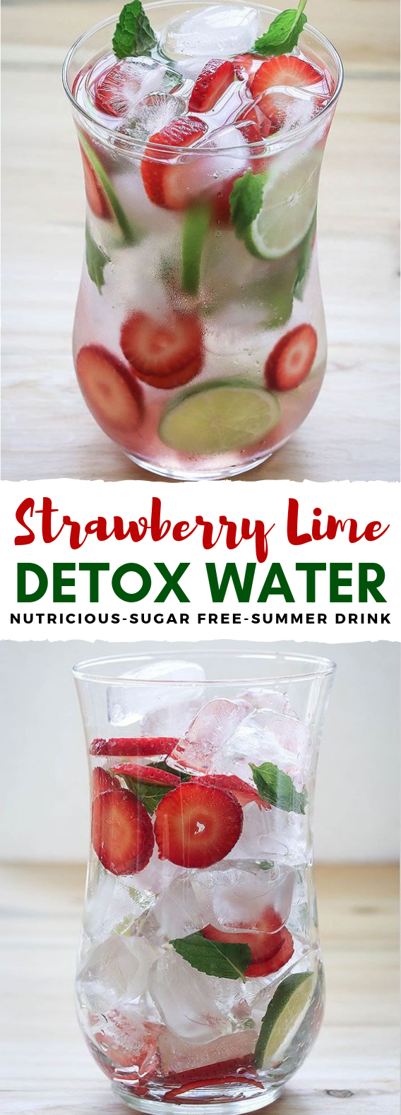 SPRING CLEANSING STRAWBERRY DETOX WATER #summerdrink #infuse