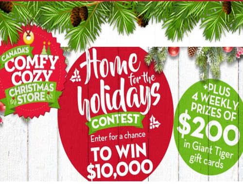 Giant Tiger Home For The Holidays Contest