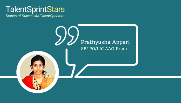 Prathyusha's Stint with Success through TalentSprint