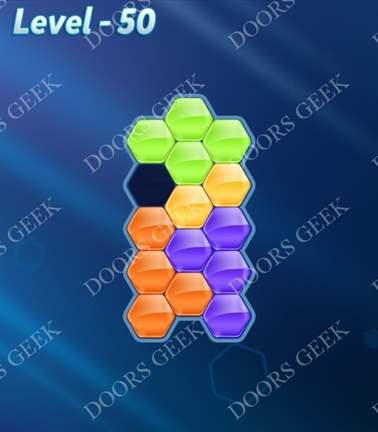 Block! Hexa Puzzle [5 Mania] Level 50 Solution, Cheats, Walkthrough for android, iphone, ipad, ipod