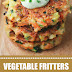Vegetable Fritters Avocado Sauce