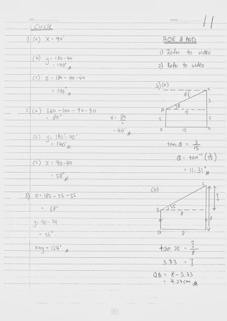 TTC MATHS DEPARTMENT: Form 4 Revision for Final Exam 2014