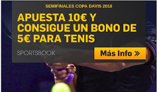 betfair promocion 5 euros copa davis Francia vs España 13-14 septiembre