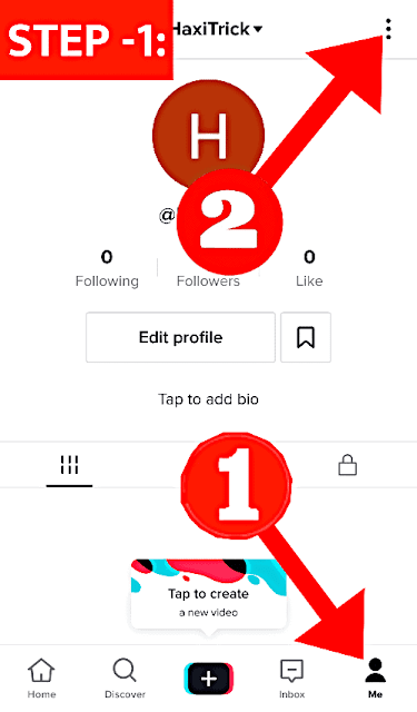 Open TikTok and Goto Profile