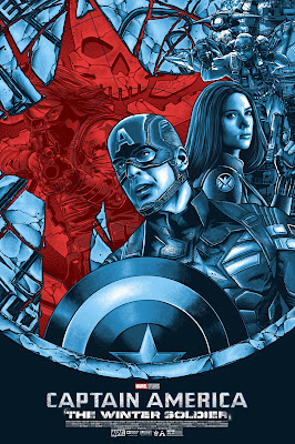 Captain America: The Winter Soldier Movie Poster Screen Print by Anthony Petrie x Grey Matter Art x Marvel