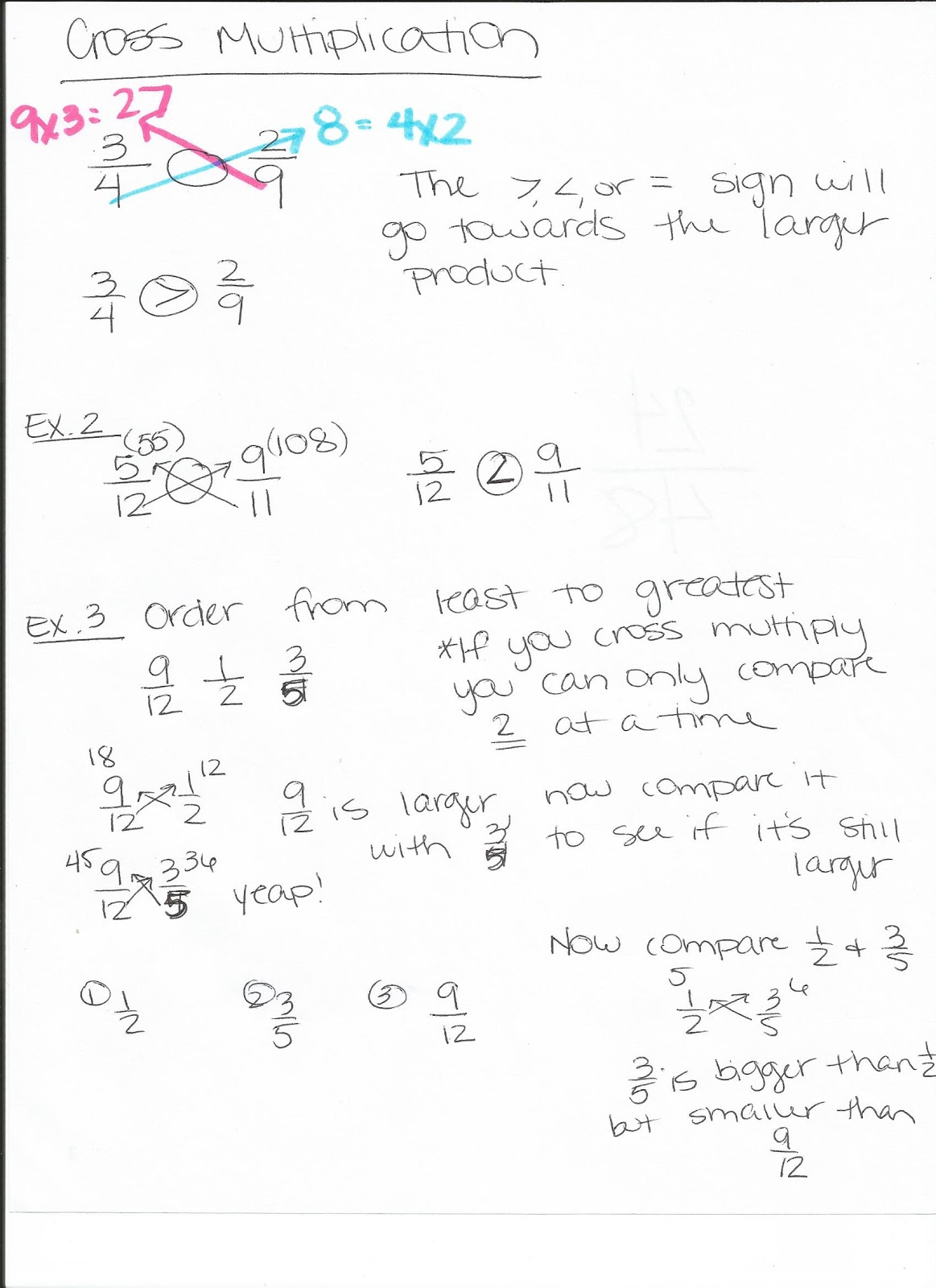 Miss Lewis 5th Grade Math Compare And Order Fractions