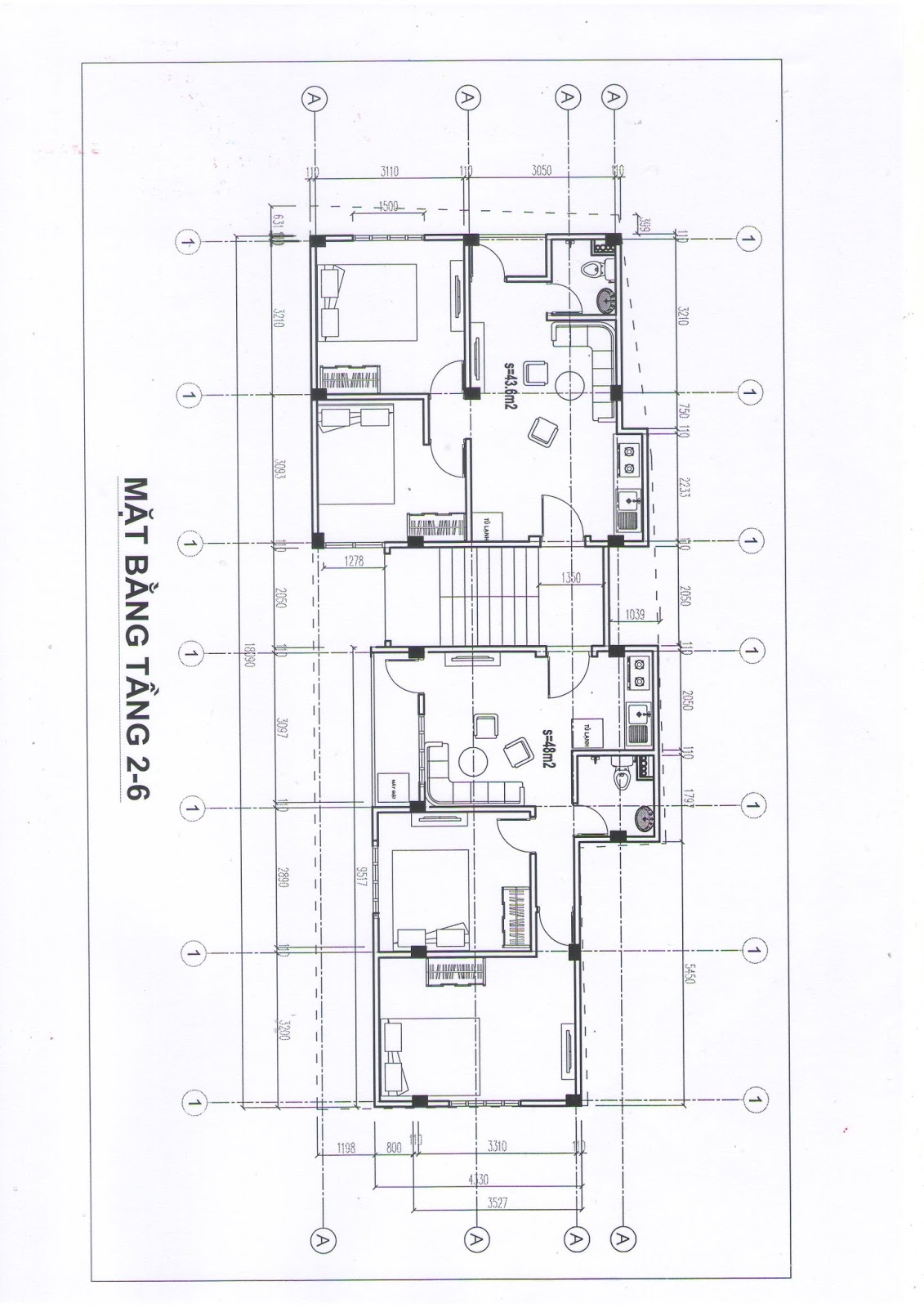 Mặt bằng tổng thể 2D của dự án Minh Đại Lộc 2