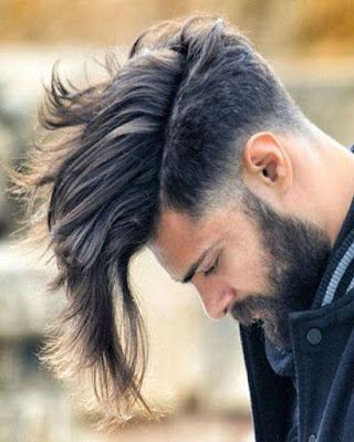 peinado con cabello largo informal laterales cortos