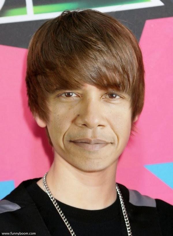 Funny Barack Obama Picture - Justin Bieber