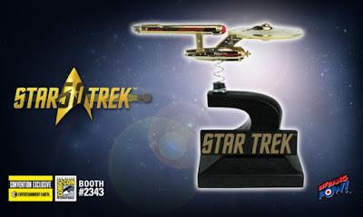 San Diego Comic-Con 2016 Exclusive Star Trek: The Original Series 24K Gold Plated Enterprise Monitor Mate by Bif Bang Pow! x Entertainment Earth