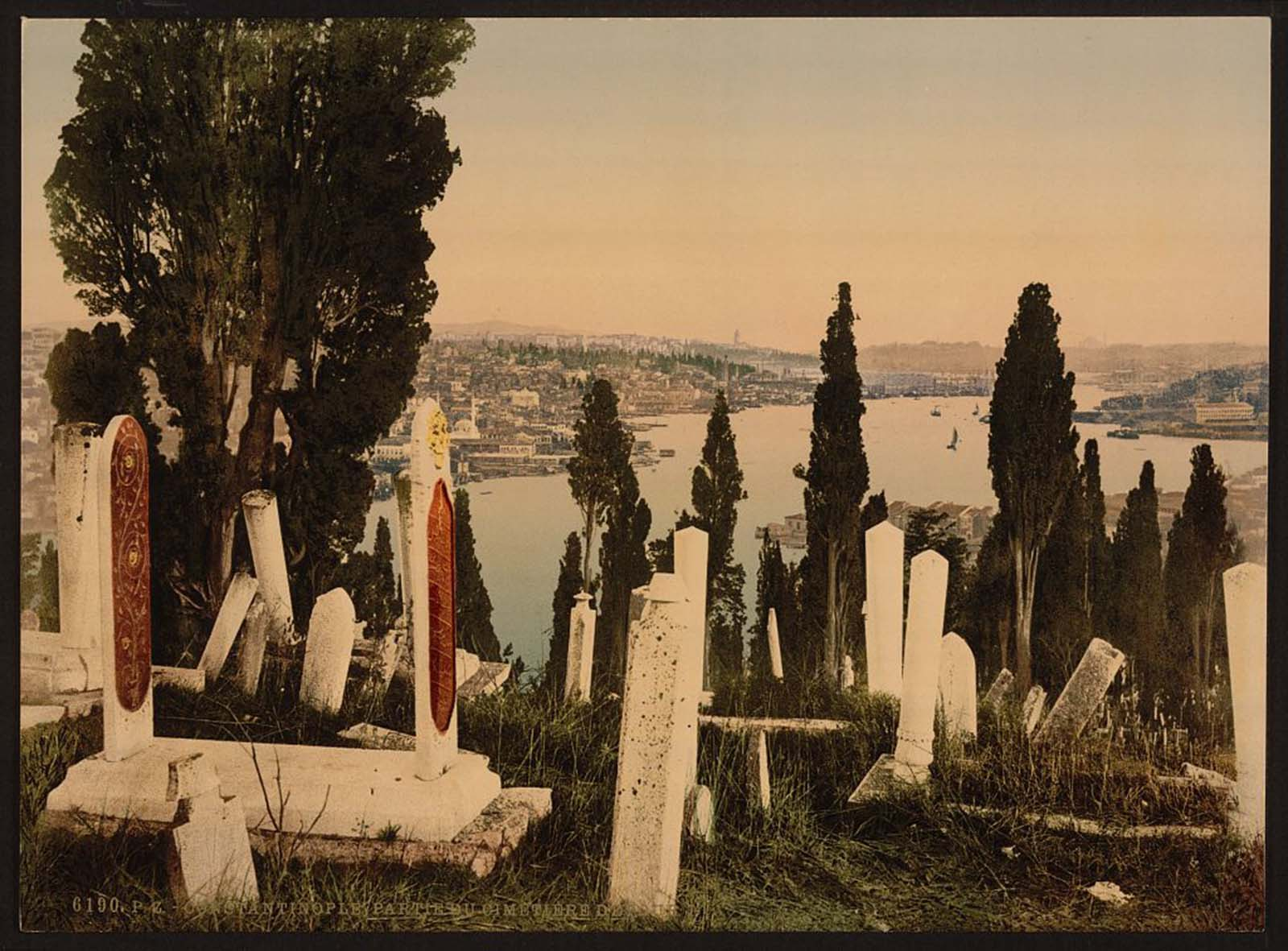 A part of the Eyoub (i.e., Uyüp) cemetery, Constantinople.