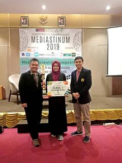 Kaji Tumor Otak, Tim Fakultas Kedokteran Unej   Juara I Kajian Literatur Mediastinum 2019