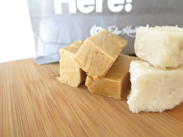 vegan fudge, fudge kitchen, salted caramel fudge