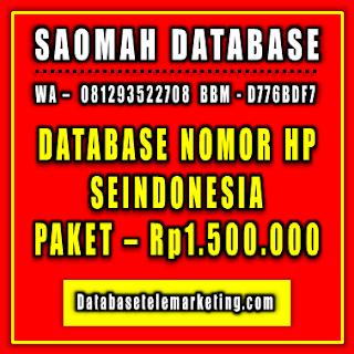 Jual Database Nomor Handphone Paket 5 - Rp1.500.000