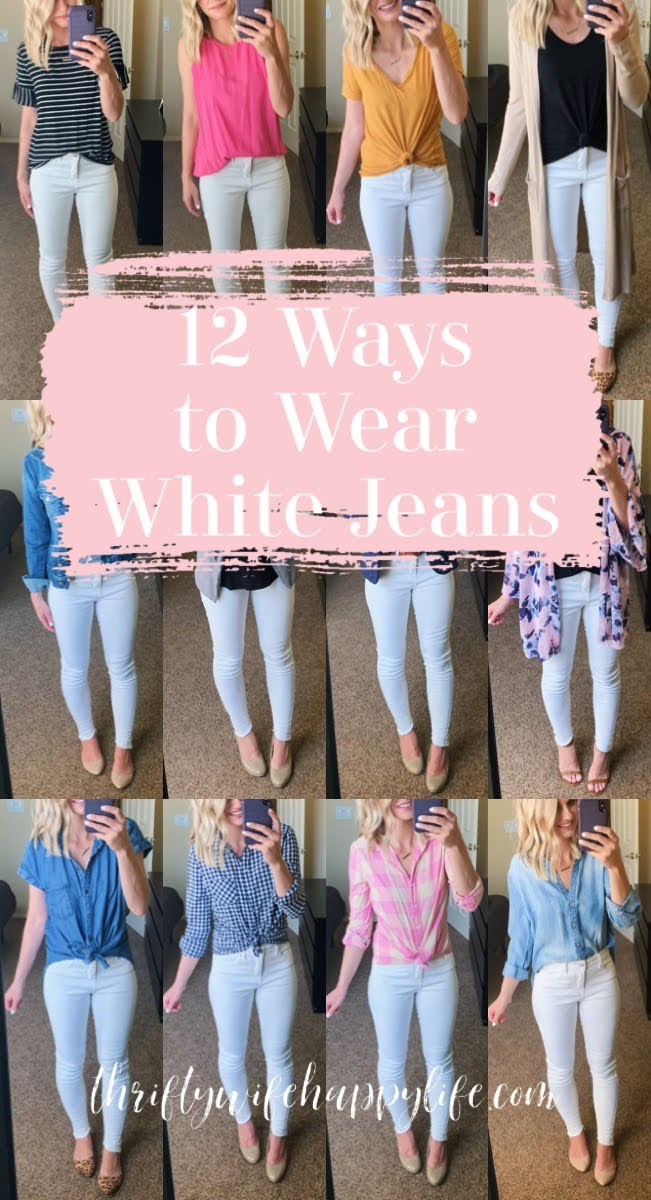 12 Ways to Wear White Jeans this Spring