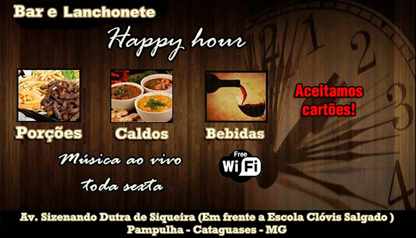 Bar e lanchonete Happy Hour