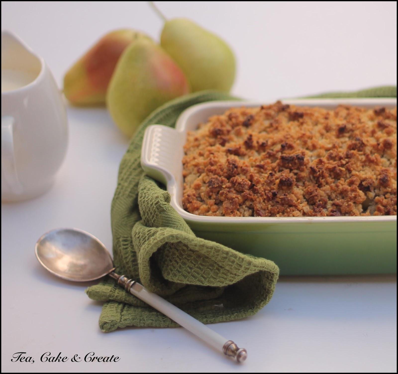 Tea, Cake & Create: Pear & Pecan Crumble