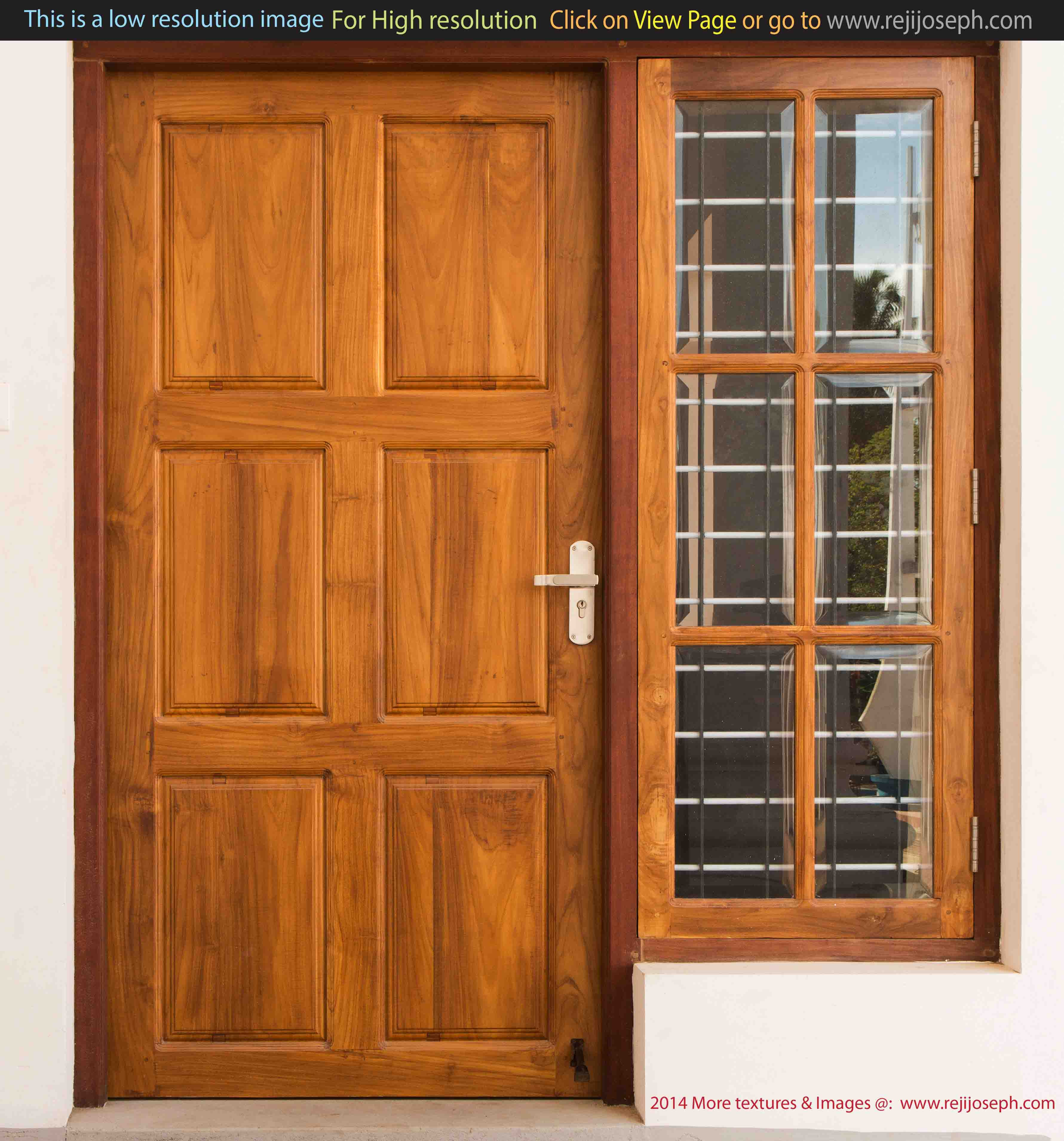Wooden door window texture 00002