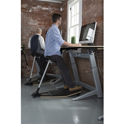 Standing Desk with Leaning Stool