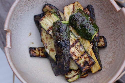 Grilled zucchini. Image by Eve Fox, The Garden of Eating, copyright 2013