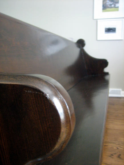 Stained Church Pew
