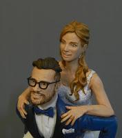 statuine torta matrimonio realistiche ritratti decorazione torta orme magiche