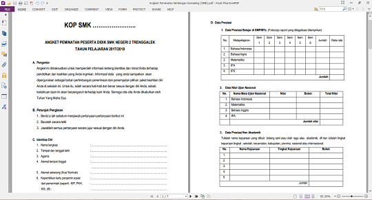 Angket Pemintanan Bimbingan Konseling SMK