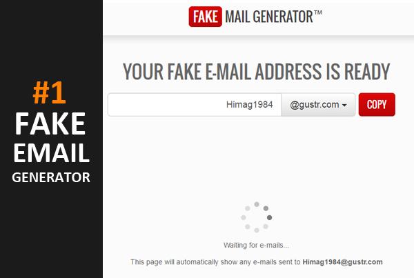 e mail fake