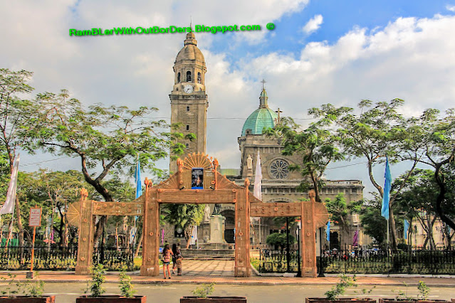 Plaza Roma and Manila Cathedral, Intramuros, Manila, Philippines