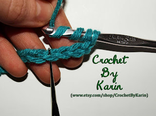 Crochet Quadruple Stitch : ... , see below where Ive marked the correct stitch with my spare hook