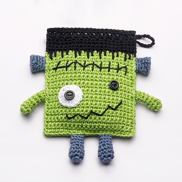 Frankenstein Candy Pouches free pattern