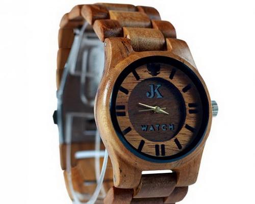 www.Tinuku.com JK Watch studio show two designs wooden watches handmade Jorda series uses teak wood