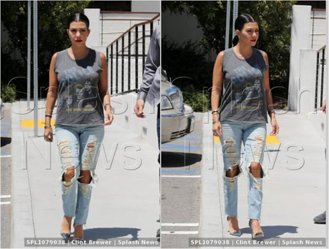 Kourtney Kardashian Police T-shirt