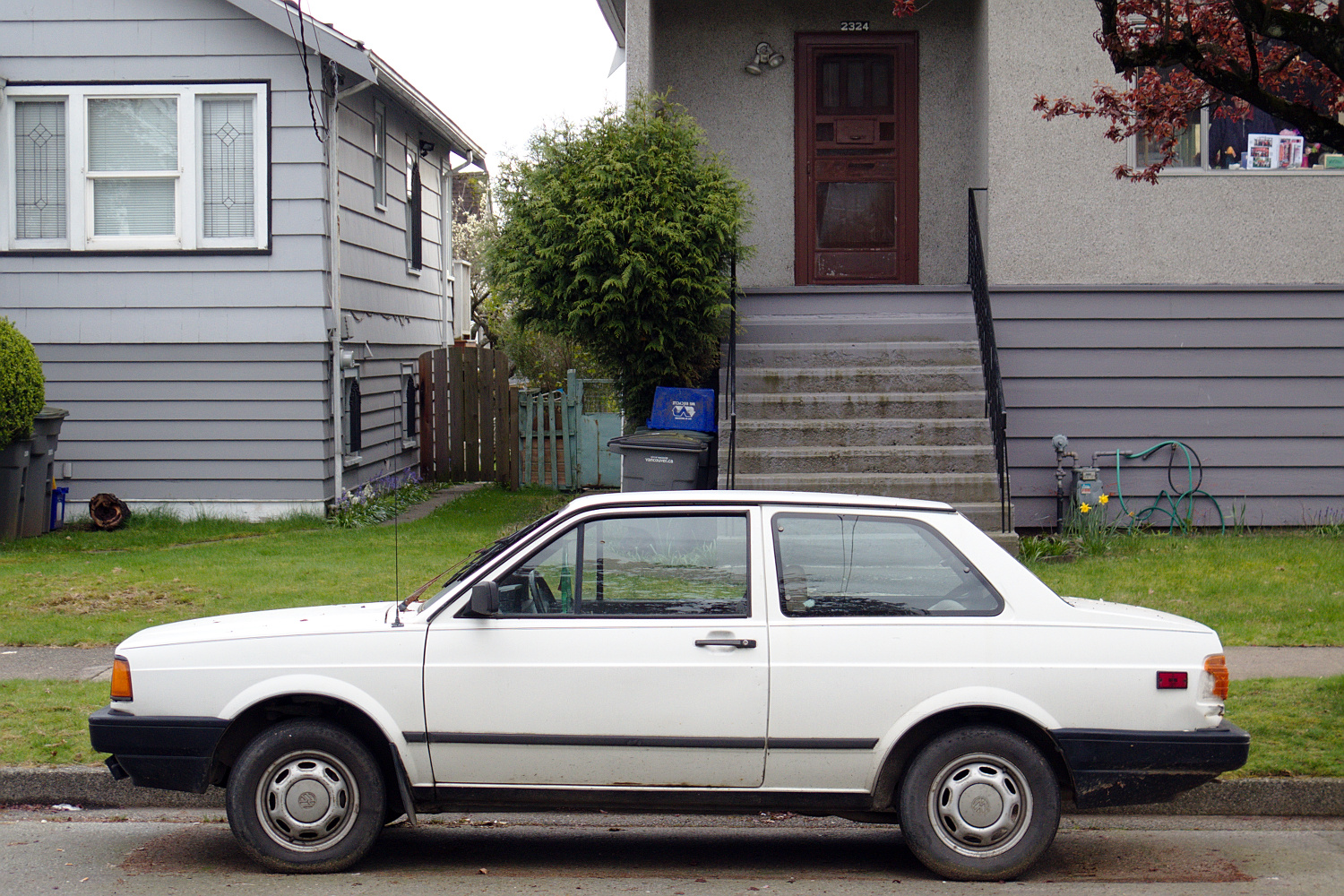 Old Parked Cars Vancouver 1988 Volkswagen Fox