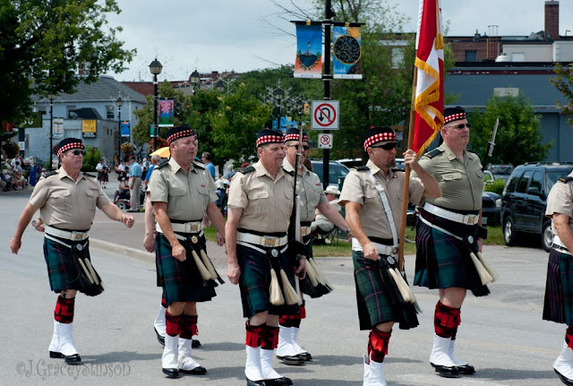One of the colour guards in the Orllia Scottish Festival parade for 2015.