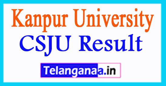 CSJU Result 2017 Kanpur University Exam Result 2018