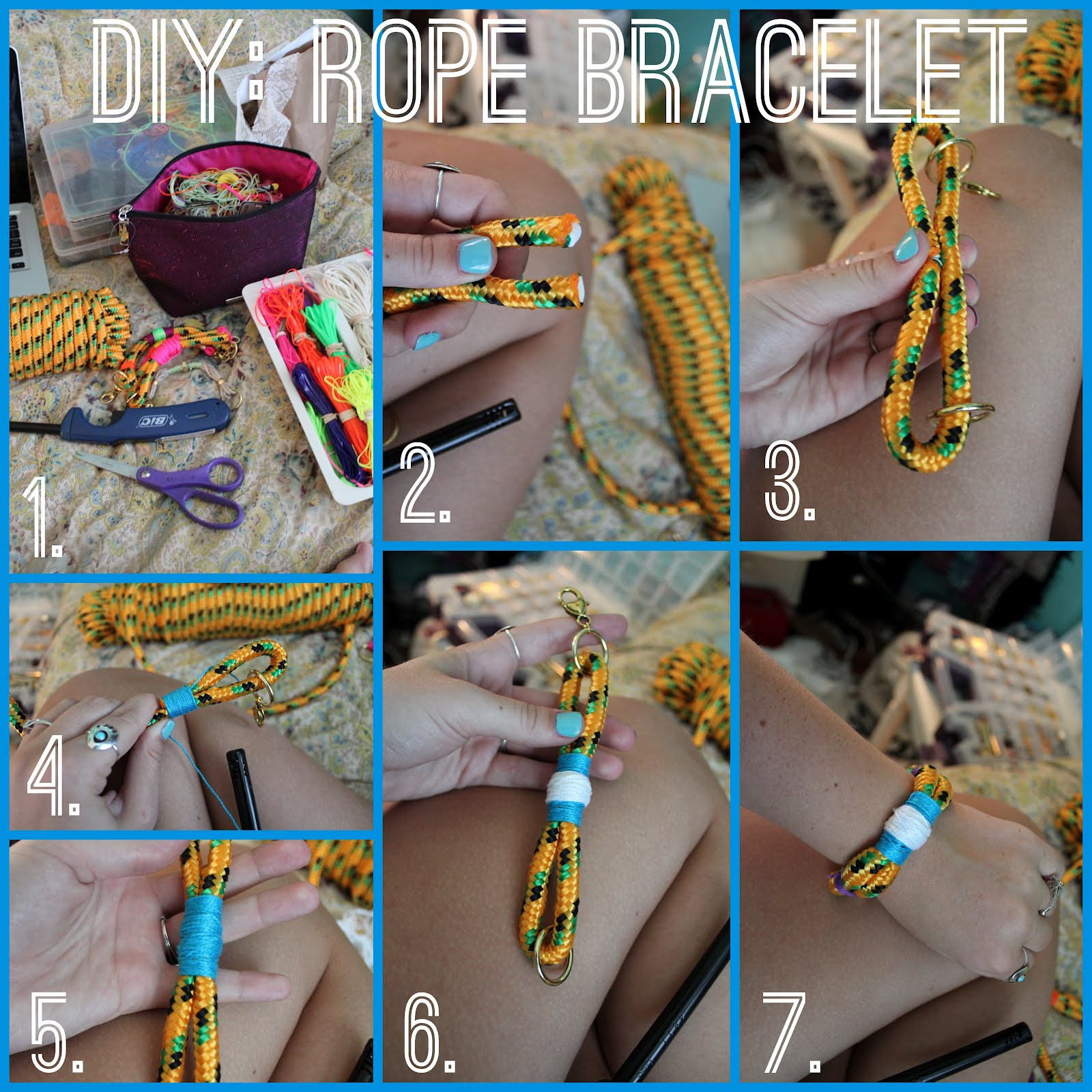 Sincerely Truly Scrumptious Diy Rope Bracelet