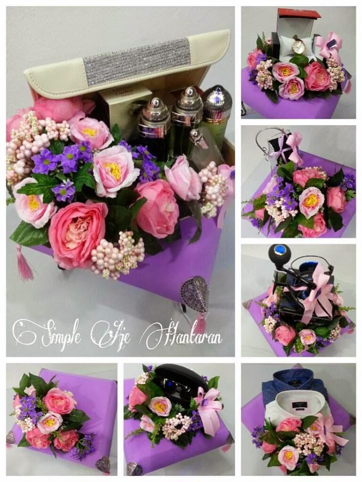 Simple Aje Hantaran Hantaran Perkahwinan Pink dan Purple