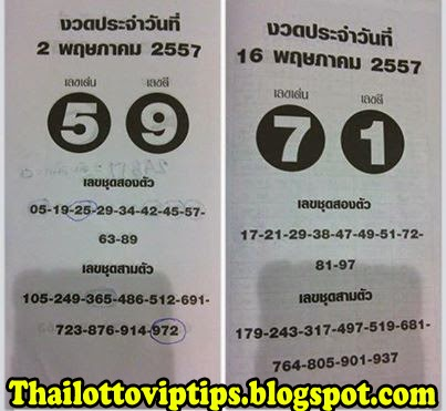 Thai Lotto Hot Game Tip paper 16-05-2014