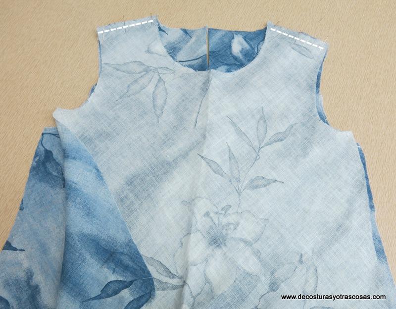 como coser una blusa cortada al bies