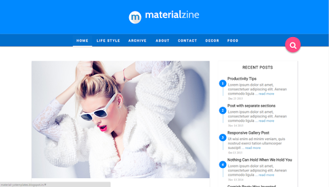 material-blogger-template