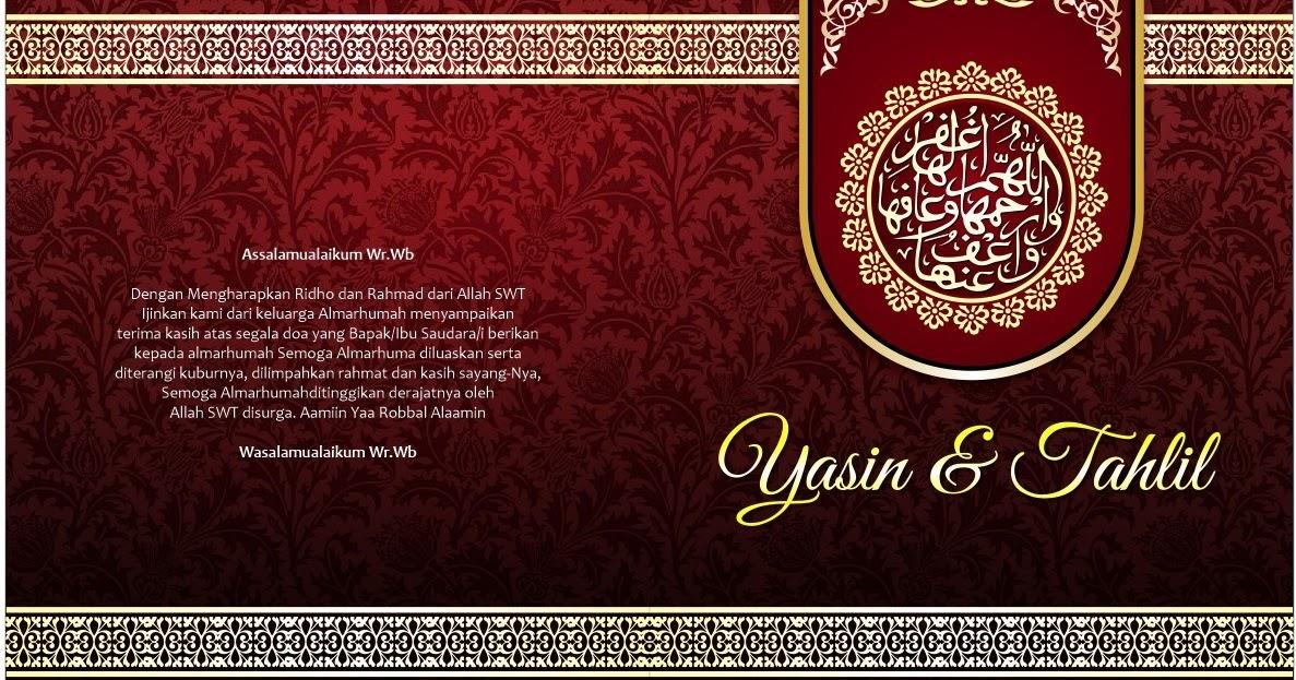 download gratis cover buku yasin merah design corel