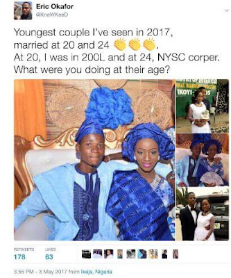 Meet the Latest Youngest Couple in Lagos, Nigeria; Groom 24, Bride 20